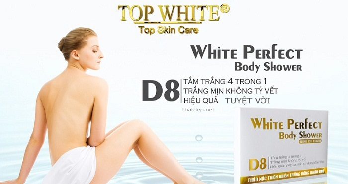 Top White Perfect Body Shower D8 4 trong 1